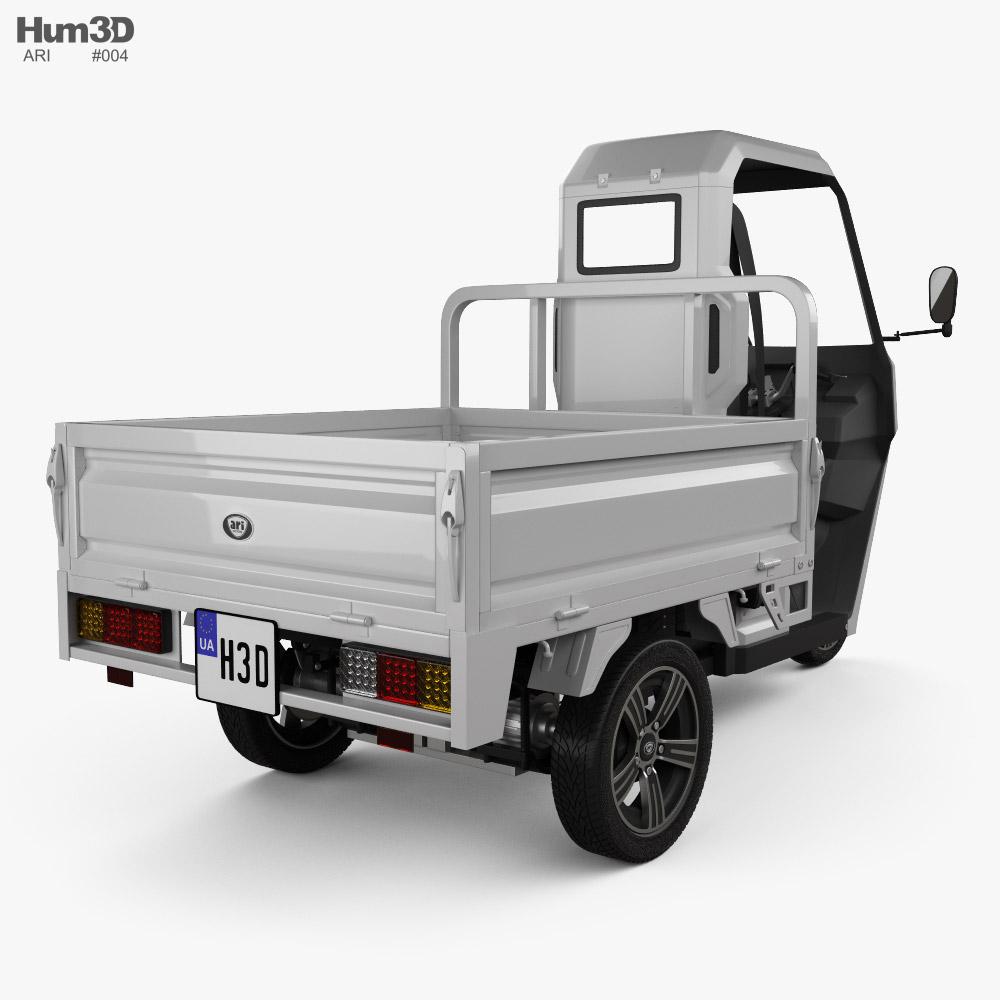 ARI 345 Pickup 2021 3d model back view
