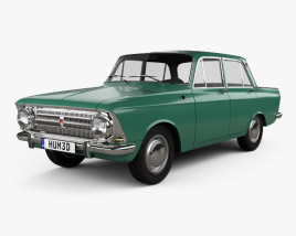 3D model of AZLK Moskvich 408 1964