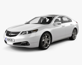 3D model of Acura TL 2012
