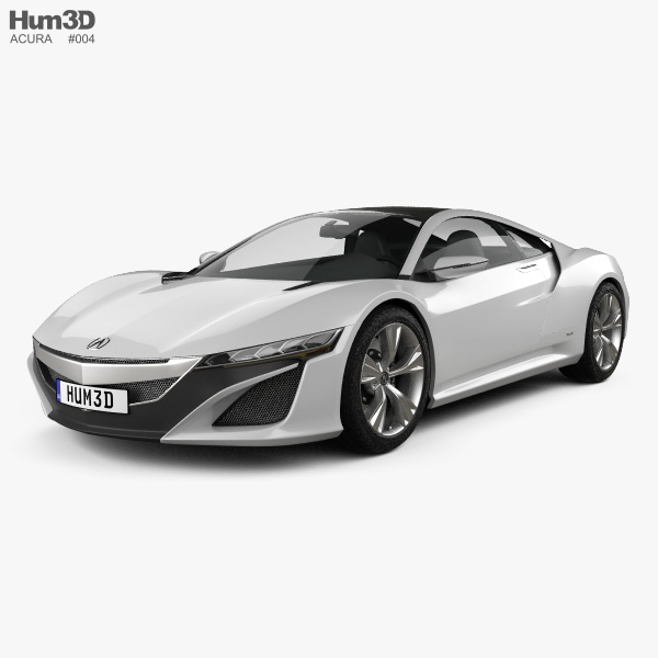 3D model of Acura NSX 2012