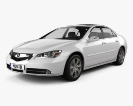 3D model of Acura RL 2012