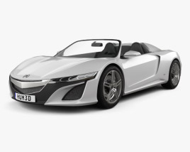 3D model of Acura NSX convertible 2012