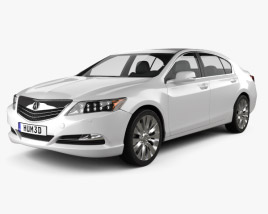 3D model of Acura RLX 2013