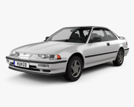 3D model of Acura Integra coupe 1991