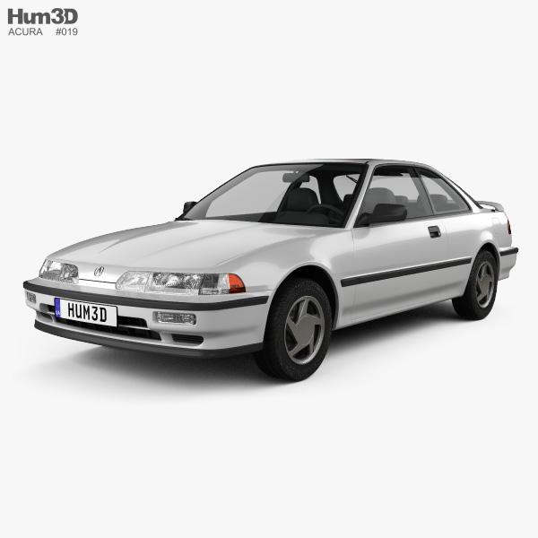 Acura Integra coupe 1991 3D model