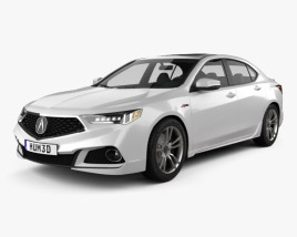 3D model of Acura TLX A-Spec 2017