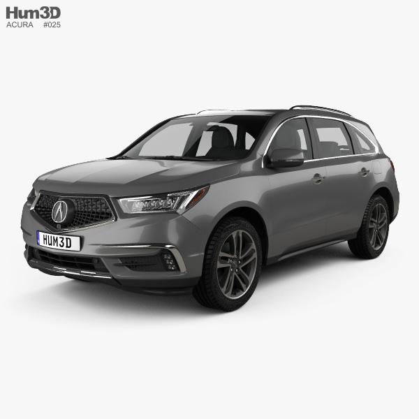 3D model of Acura MDX Sport Hybrid 2017