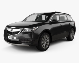 3D model of Acura MDX 2014
