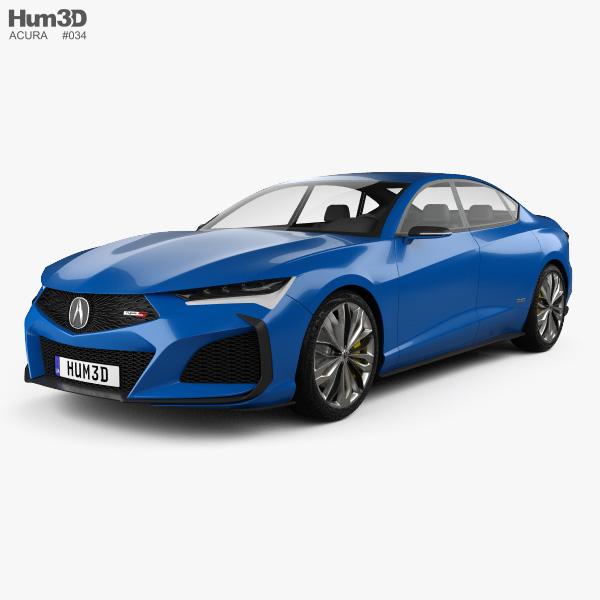 Acura Type-S 2019 3D model