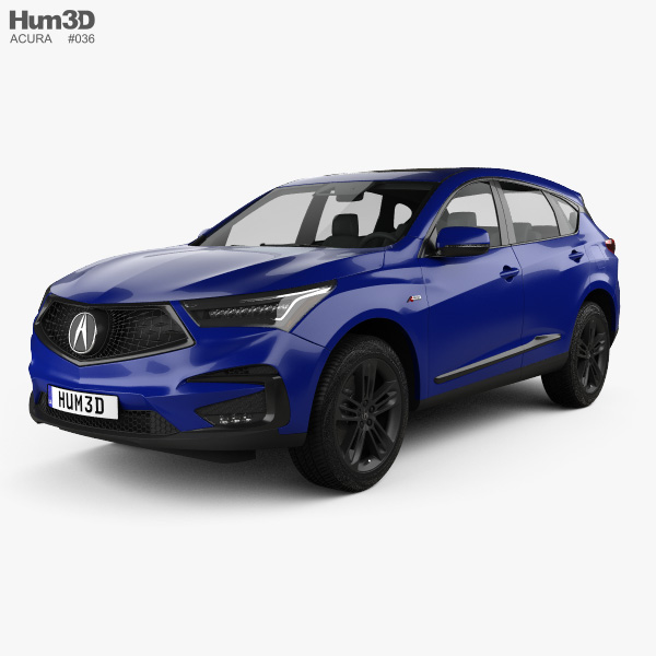 3D model of Acura RDX A-spec 2019