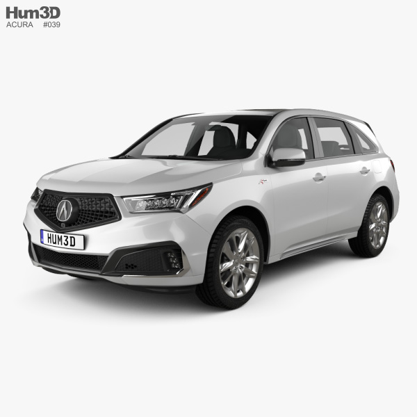 3D model of Acura MDX A-Spec 2018