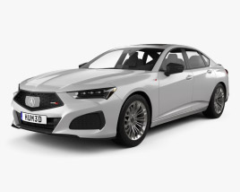 3D model of Acura TLX Type S 2020