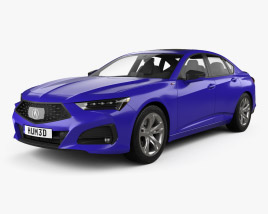 3D model of Acura TLX A-Spec 2020