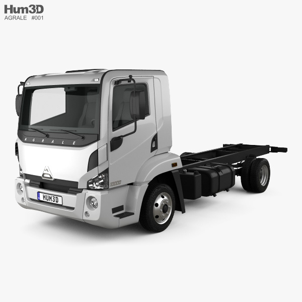 3D model of Agrale 10000 Chassis Truck 2012