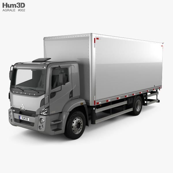 3D model of Agrale 14000 Box Truck 2012