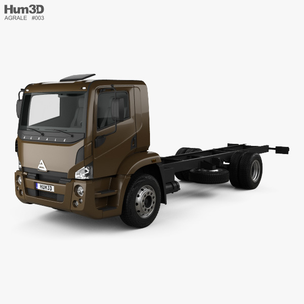 3D model of Agrale 14000 Chassis Truck 2012