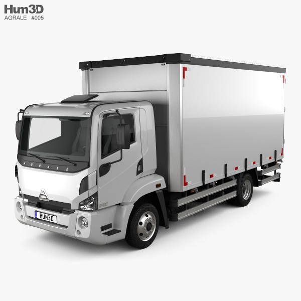 3D model of Agrale 8700 Box Truck 2012