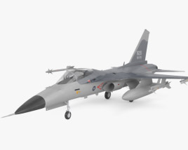3D model of AIDC F-CK-1 Ching-kuo