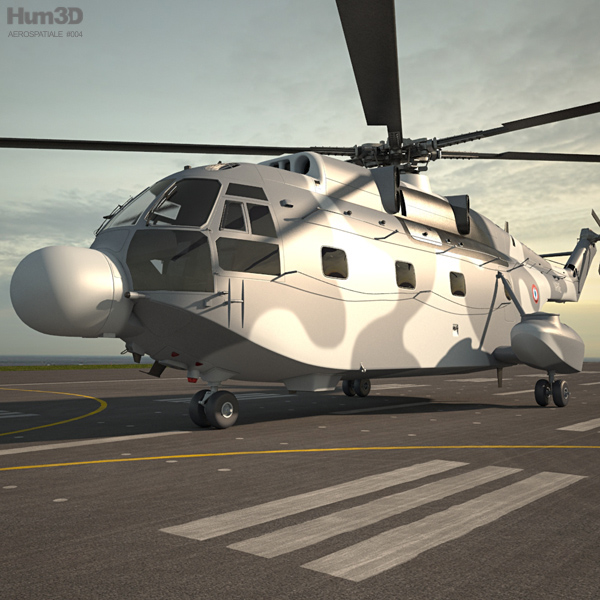 Aerospatiale SA-321 Super Frelon 3D model