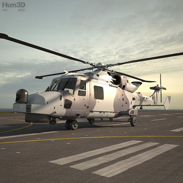 3D model of AgustaWestland AW159 Wildcat