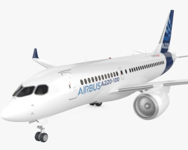 3D model of Airbus A220 100