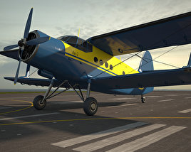 3D model of Antonov An-2
