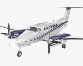 3D model of Beechcraft King Air 350i