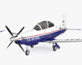 3D model of Beechcraft T-6A Texan II