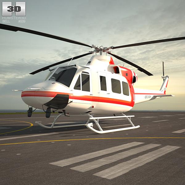 Bell 412 3D model