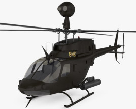 3D model of Bell OH-58 Kiowa