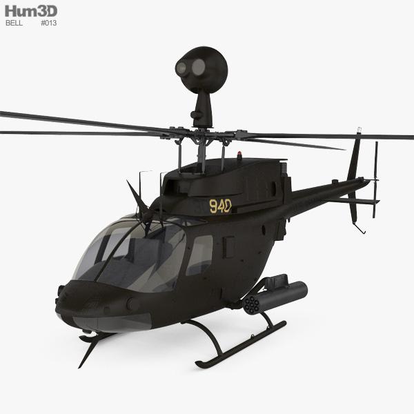 Bell OH-58 Kiowa 3D model