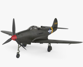 3D model of Bell P-39 Airacobra