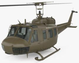 Bell UH-1 Iroquois con interior Modelo 3D