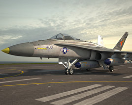 3D model of McDonnell Douglas F/A-18 Hornet
