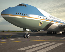 3D model of Boeing VC-25 Air Force One