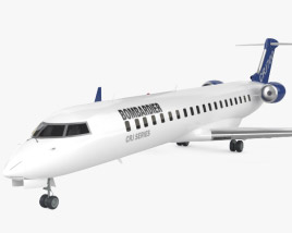 3D model of Bombardier CRJ700 series