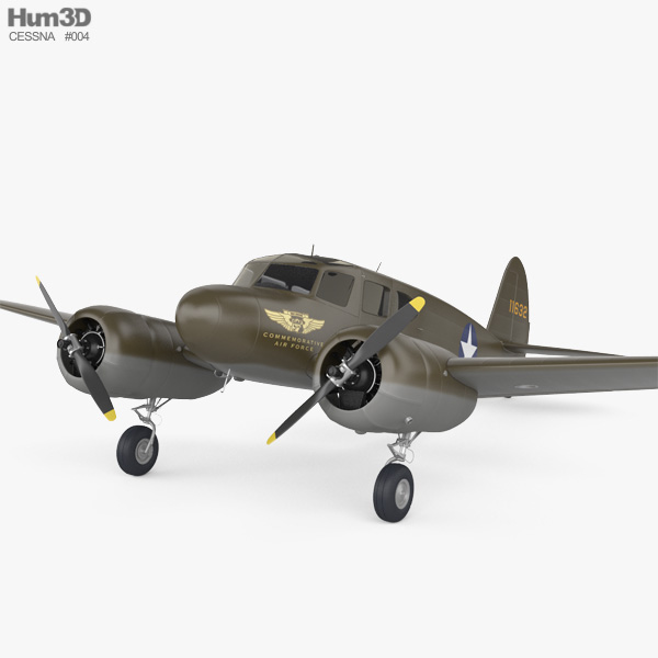 Cessna AT-17 Bobcat 3D model