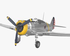 Curtiss P-36 Hawk 3D model