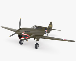 3D model of Curtiss P-40 Warhawk
