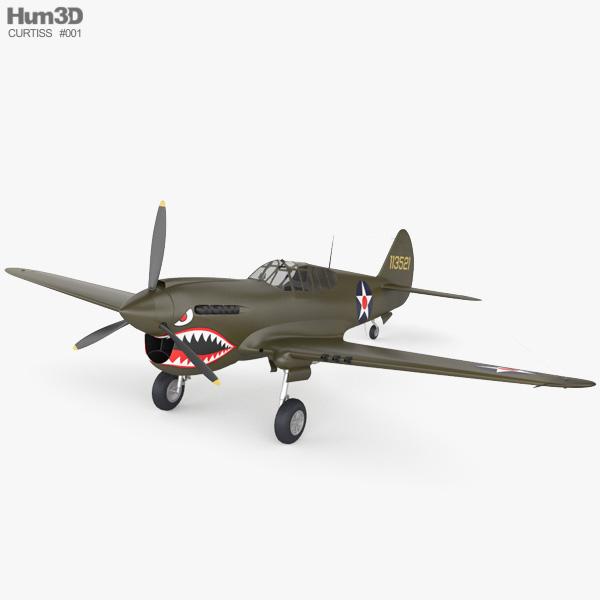 Curtiss P-40 Warhawk 3D model