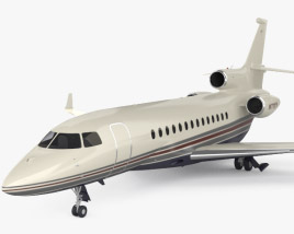 3D model of Dassault Falcon 7X