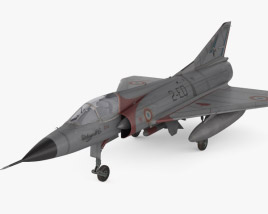 3D model of Dassault Mirage III