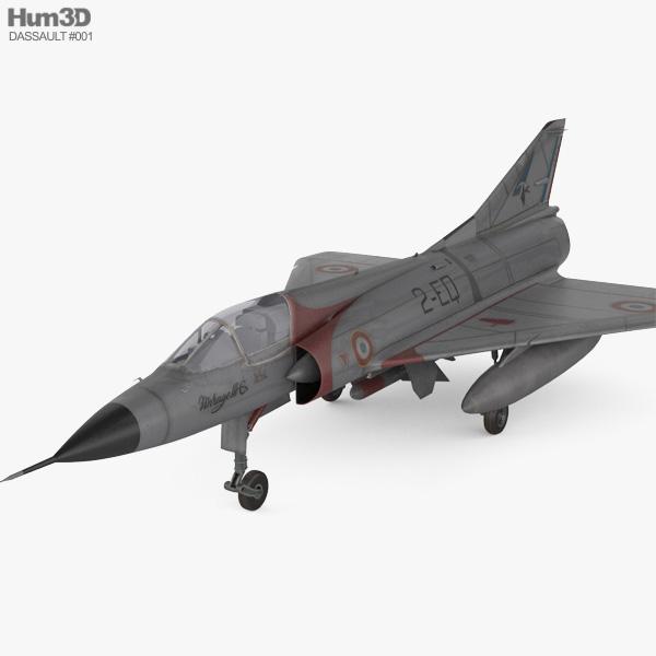 3D model of Dassault Mirage III