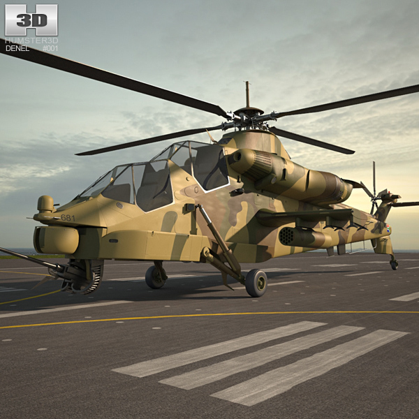 Denel Rooivalk 3D model