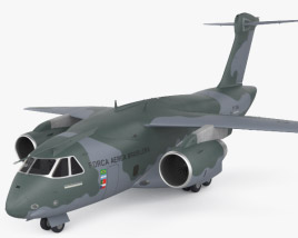 3D model of Embraer KC-390