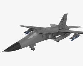 3D model of General Dynamics F-111 Aardvark