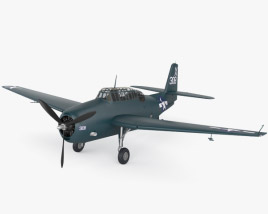 3D model of Grumman TBF Avenger