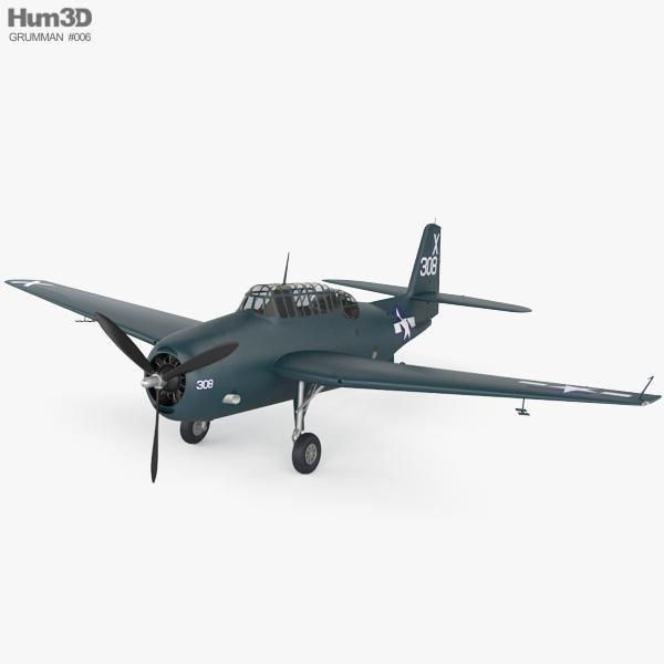 Grumman TBF Avenger 3D model