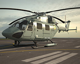 3D model of HAL Dhruv