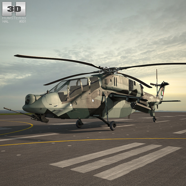 HAL LCH 3D model
